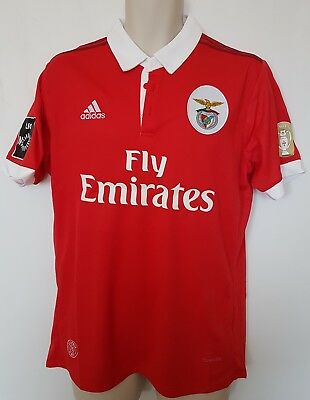 benfica football jersy 2017-2018 + champions badge size M