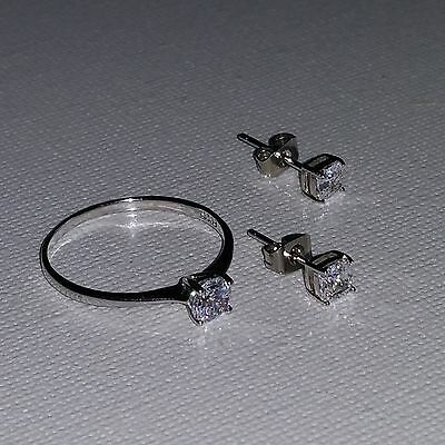 ladies fashion Simple Silver,100% 925 Timeless Elegance. LC ring and earrings