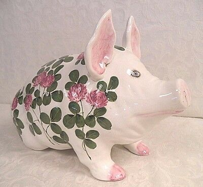 Wemyss Pottery Made For Plichta Large Pig Signed Nekola Pinxt London England