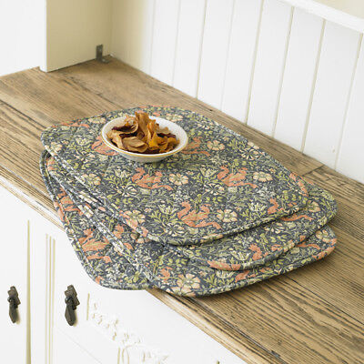 4 William Morris Compton  Quilted Cotton Floral Placemats