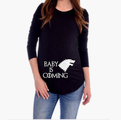 Game of Thrones Maternity Shirt   Maternity Long Sleeve Shirt Baby is Coming