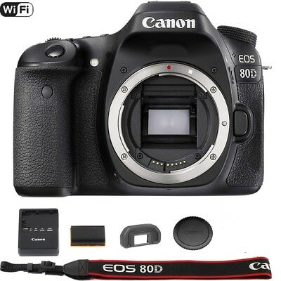 Canon EOS 80D 24.2MP Digital SLR Camera (Body)