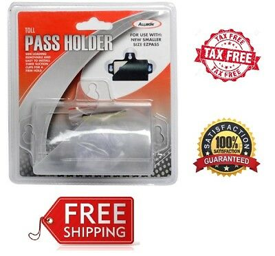 Clear Removable Toll EZ Pass Transponder Tag Holder W/ 3 Suction Cups For Glass