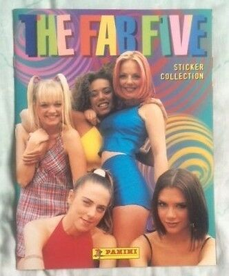 """SPICE GIRLS Original Vintage """"The Fab Five Sticker Collection"""" Before & After"""