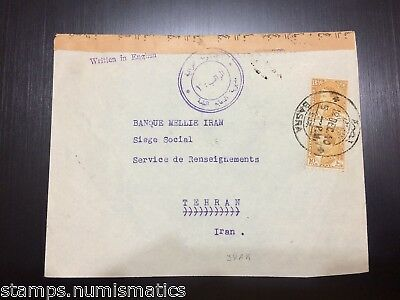 Iraq 1940, Basra Censored Cover to Tehran