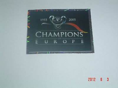 PANINI Champions of Europe 1955-2005 take 10 stickers MINT condition !!