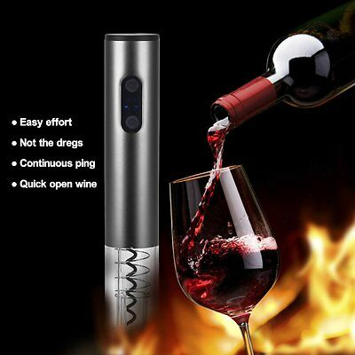 Electric Automatic Wine Bottle Opener Corkscrew Cork Cordless Foil Cutter Set