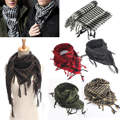 Lightweight Military Arab Tactical Army Shemagh KeffIyeh Scarf Check Wrap Unisex