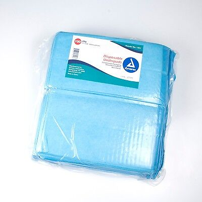 "Dynarex 1341 Disposable Incontinence Pads Chux Medium 17"" x 24"" - 2 Bags/200pc"
