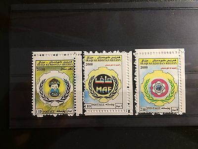 Iraq - Kurdistan Region 2000, MAF (3 Stamps) Complete Set MNH