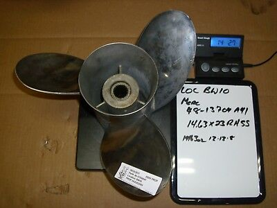 Quicksilver Mercury / Mariner Laser Ii Stainless Steel 23 Pitch Part#48-13704A41