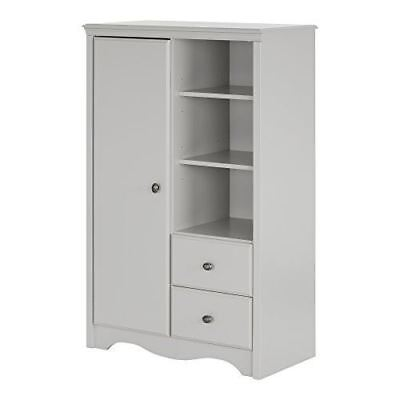 South Shore Furniture Angel Armoire with Drawers, Soft Gray