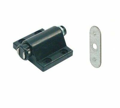 Magnetic Pressure Push To Open Touch Latch Kitchen Cabinet Doors Catches + Plate