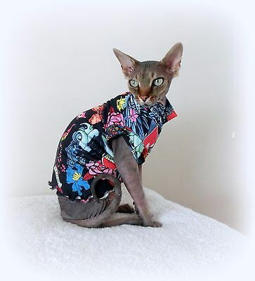 TATTOO stretch, Sphynx cat clothes, pet clothes, hairless cat, Sphynx clothes,