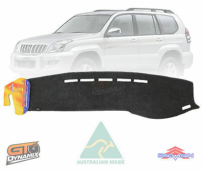 DASH MAT to Suit TOYOTA PRADO 120 SERIES 03/2003-09/2009 GX GXL CHARCOAL DM905