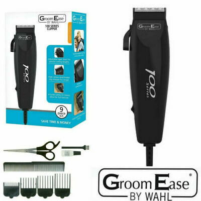 WAHL 100SERIES 9pc CORDED HAIR CLIPPER TRIMMER CUTTING KIT 79233-017