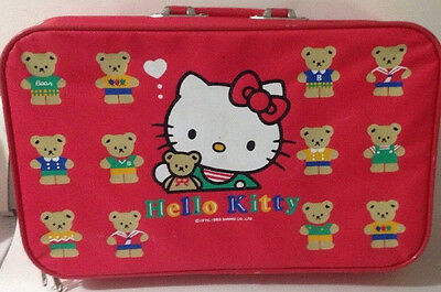 Vintage 1993 Hello Kitty Childs Suitcase Luggage Overnight Bag Red by Sanrio