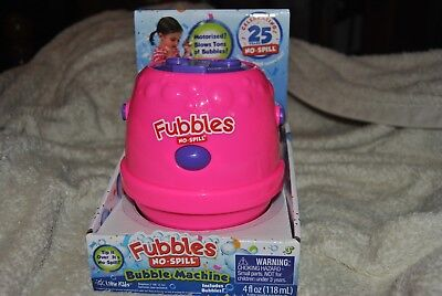 Motorized Fubbles No Spill Bubble Machine Pink & Purple SPECIAL NEEDS TOY New