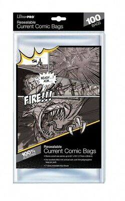100 pochettes Ultra Pro Resealable Current Comic Size bags 174 x 266 mm 82225
