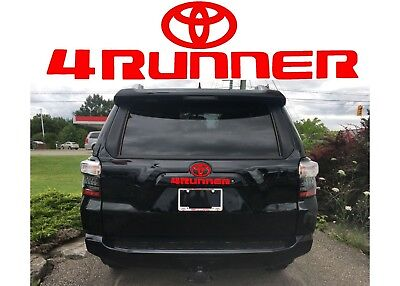 Gloss Red Rear Liftgate Vinyl Decal For 2010-2017 Toyota 4Runner w/ Logo New USA