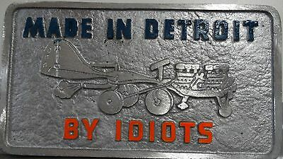Car Club Plaques Made in DETROIT Painted letters