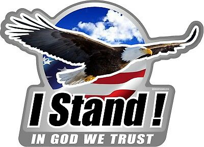 "ProSticker 967V One American Pride /""In Yahweh We Trust/"" Bald Eagle decal"