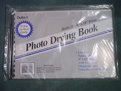 Delta 1 Photo Drying Book # 13010 Archival 8x12 Blotter Book New sealed pak.
