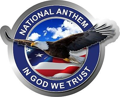 """ProSticker 967V One American Pride /""""In Yahweh We Trust/"""" Bald Eagle decal"""