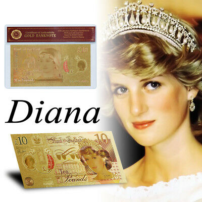 WR Great Britain £10 2017 Princess Diana Gold Polymer Banknote 20th Anniversary