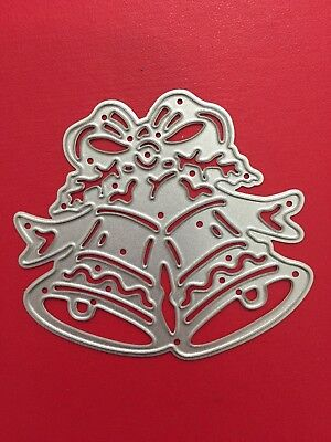 NEW• CHRISTMAS BELLS DIE For Sizzix Or Cuttlebug