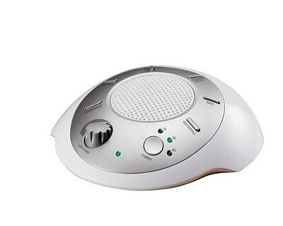 Sound Machine with 6 Nature Sounds, Spa Relaxation (Silver)