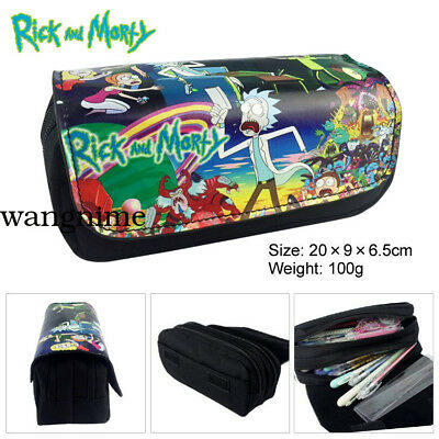 Season3 Rick and Morty Pickle Pencil Case Student Stationery Bag Make Up Gift