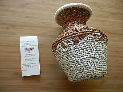 Authentic Apache Craft San Carlos Tus(water jug)  7 inches (559)