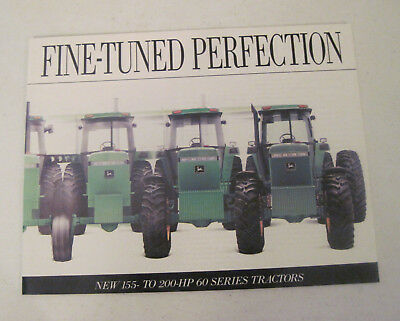 Vintage John Deere Fine Tuned Perfection 60 Series Tractors Sales Brochure