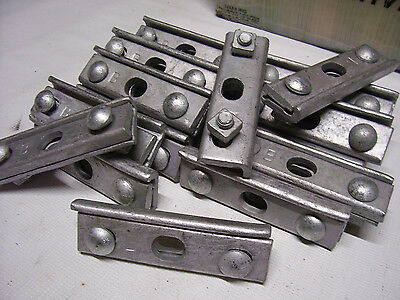 20 LOT Wire Rope Heavy Duty Galvanized Suspension Cable Clamp Clip Bracket