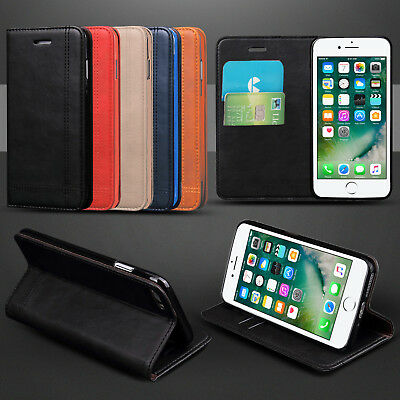 Flip Stand Cover Wallet Leather Case for Apple iPhone Samsung Galaxy Phones