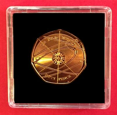 2017 Sir Isaac Newton 50p  Coin 24ct Gold Plated from Sealed Bag  + C.O.A