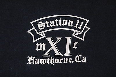 """Station 11 Hawthorne Fire Department"" T-Shirt –Unique Fire Fighter Item-XL"