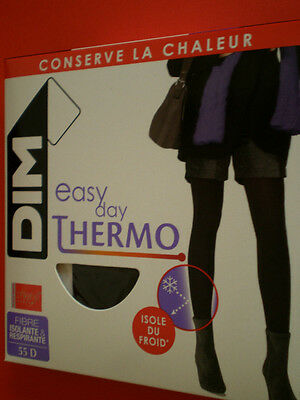 Media Panty Tights Collants Dim Thermo 55D T. Ii -2-M -Medium  Negro Aislante