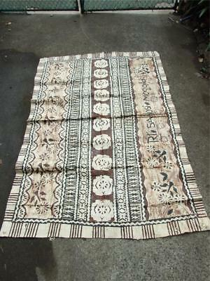 Vintage  Fijian  Wedding Tapa Bark Cloth- Masi Art
