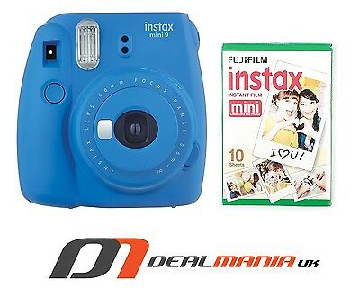 Fujifilm instax Mini 9 Instant Camera - Cobalt Blue / With 10 shots Film