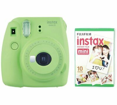 Fujifilm instax Mini 9 Instant Camera - Lime Green / With 10 shots Film