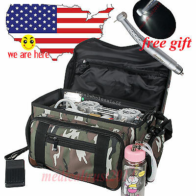 410W Mobile backpack bag Dental treatment Unit + Air Compressor Suction Syringe