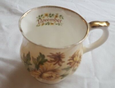 Queen's China Flower of the Month December Teacup. Flowers from the season.