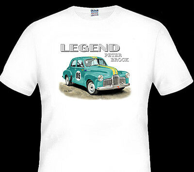 Peter Brock  Fx Goodwood Special Sedan  2006    Quality White Tshirt