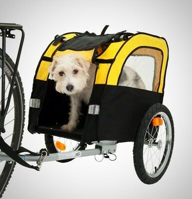 Dog Bike Trailer with Windows Small Puppy Mesh Folding Pet Travel Accessories