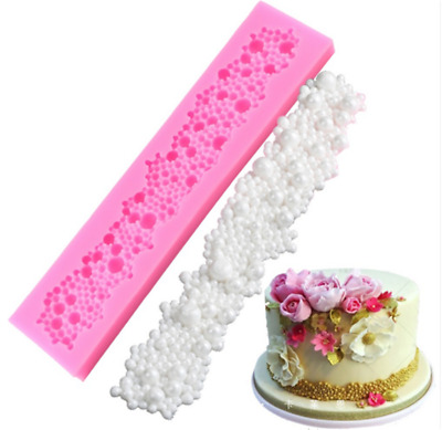 Pearl Cake Border Silicone Molds Cupcake Fondant Cake Decorating Tools Moulds