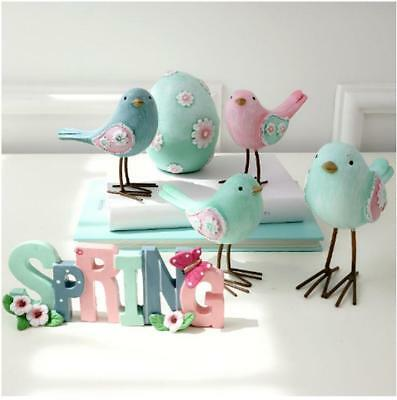 New Pastoral Cute Resin Birds Ornaments Children Living Room Home Decor Gifts