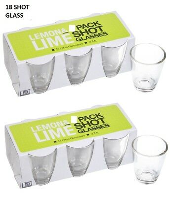 Set of 18 Shot Cups Glass Cup Drinking Entertaining Bar Party 30ml