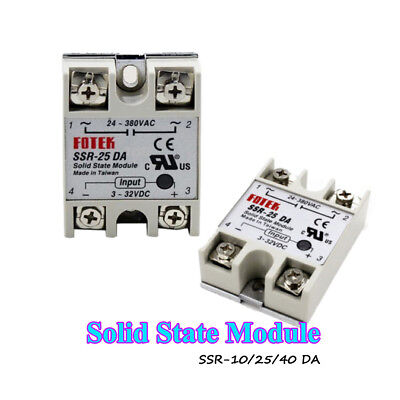 Input 3-32V DC SSR-10/25/40DA Electronic Switching Device Solid State Relay New